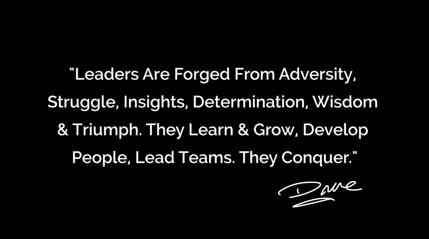 Leaders that Conquer