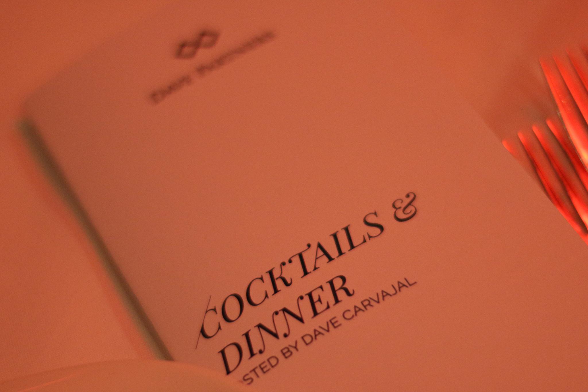Special Dinner w/ Dave Carvajal